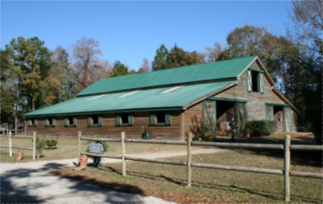 The barn at Wampee Stables the areas best horseback riding in Myrtle Beach.